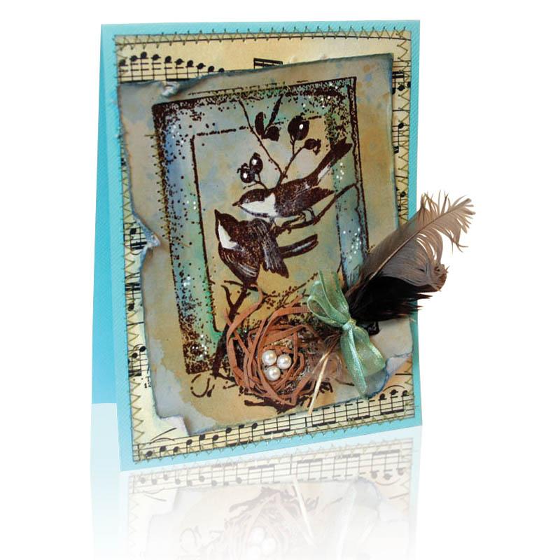 Wendy Price P126 Bird Frame Card