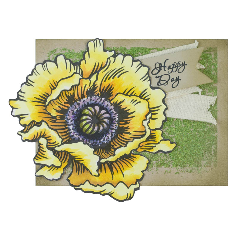 New Jumbo Flowers with FREE template (card by Janelle Stollfus)