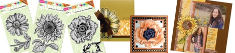 New Jumbo Cling Daisy, Sunflower, Poppy