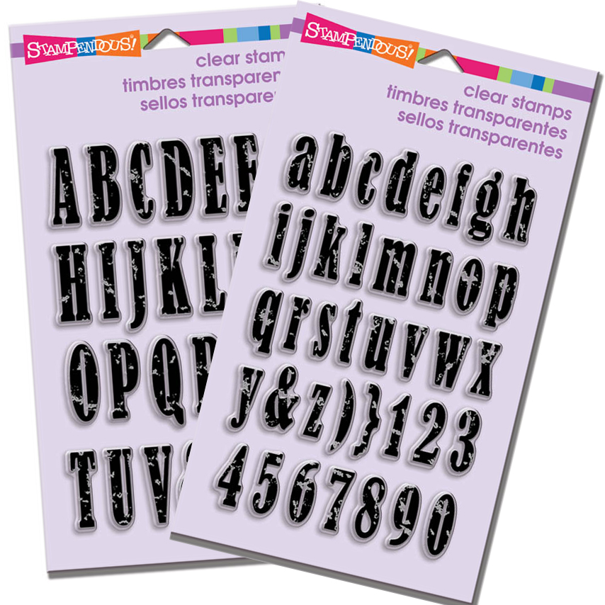Stampendous NEW Vintage Alphabet Perfectly Clear™Stamps