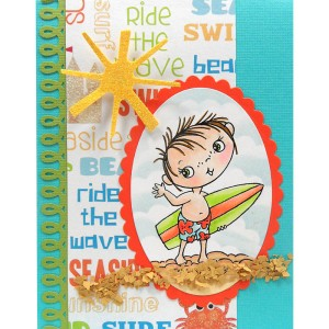 Surfer Kiddo by Kristine Reynolds
