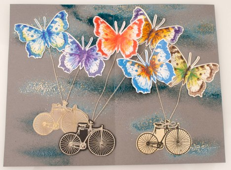 Butterfly Bicycle Journal Page by Fran Seiford