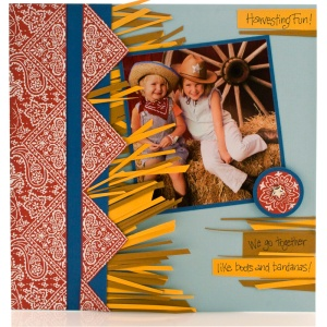 Bandana Scrapbook Page by Lisa Hindsley