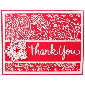Bandana Thank You by Kristine Reynolds