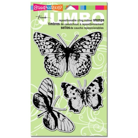 CRS5044 Cling Jumbo Butterfly Trio
