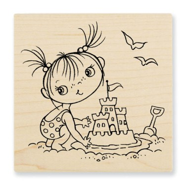 Sandcastle Kiddo - Wood Mounted