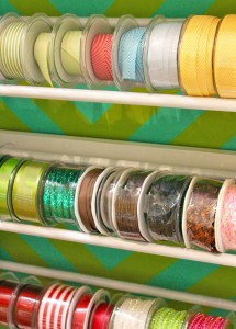 A random asst. of May Arts Ribbon from our stash - This is Ribbonista Virginia Fynes photo of her storage method!