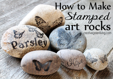 how+to+make+stamped+art+rocks+for+decor+or+your+garden