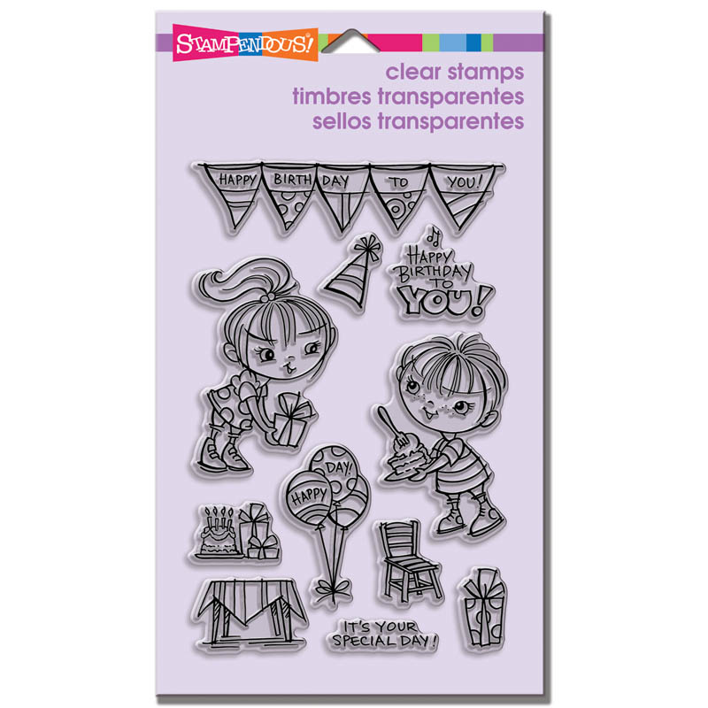 SSC1164 Kiddos Birthday Perfectly Clear Stamps