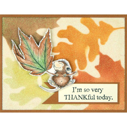 Fall Float House-Mouse - card design by Debi Hammons