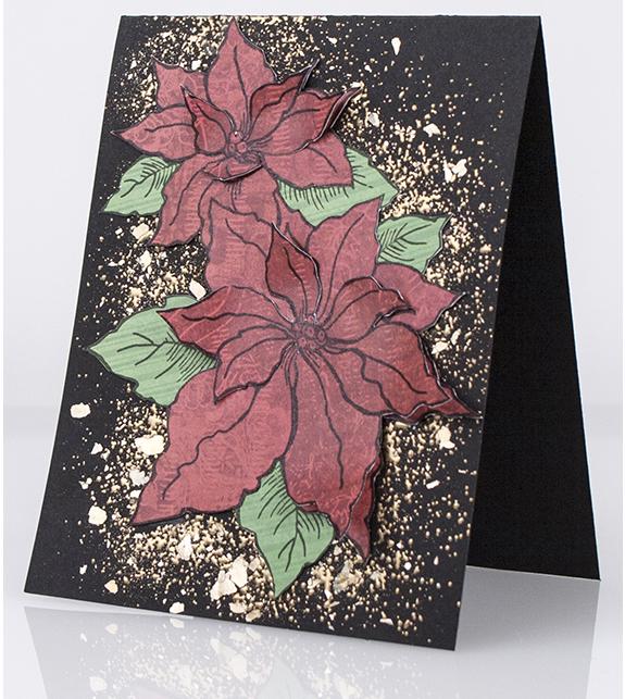Poinsettia Pair - Card Design by Debi Hammons