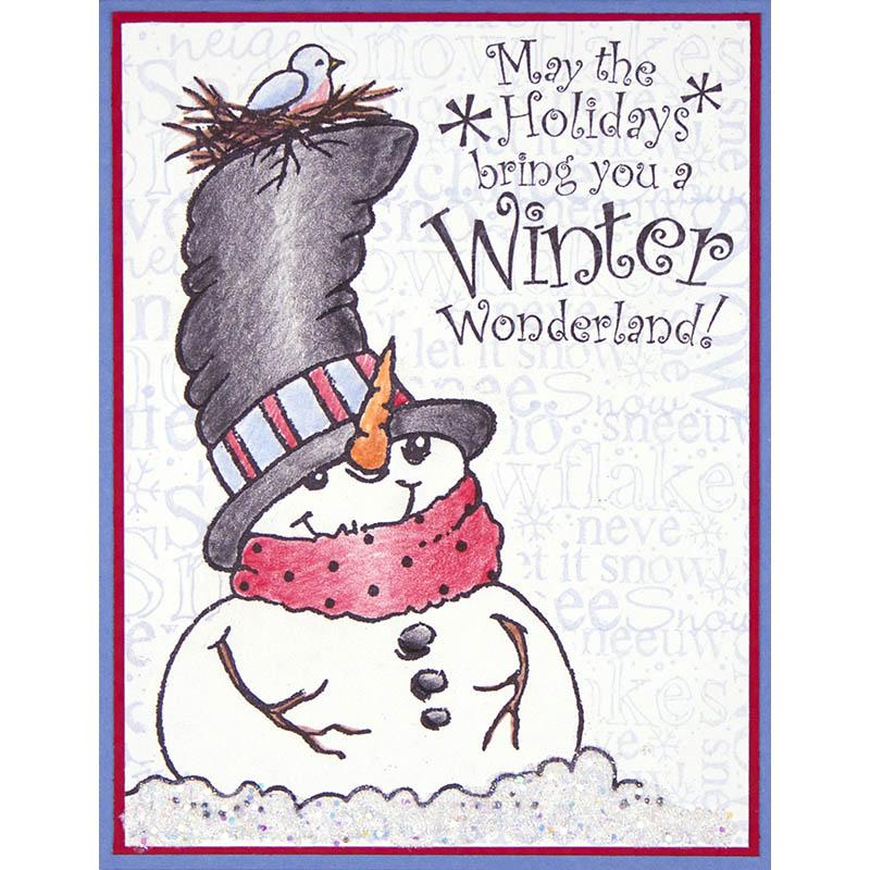 Cling Jumbo Top Hat Snowman by Debi Hammons