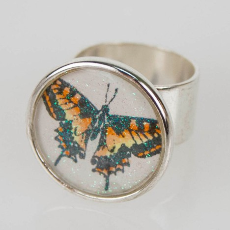 Butterfly Charm Ring by Kristine Reynolds