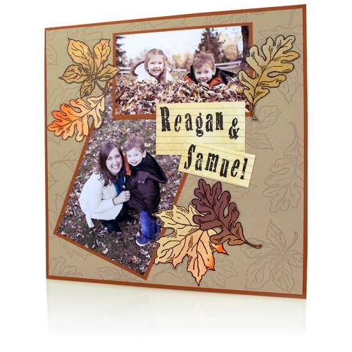 Jumbo Leaves Scrapbook Page by Debi Hammons
