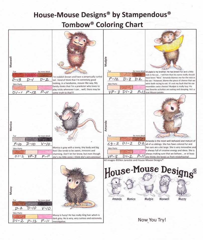 House-Mouse Coloring Guide - Tombow Irojiten Colored Pencils by Marie Browning