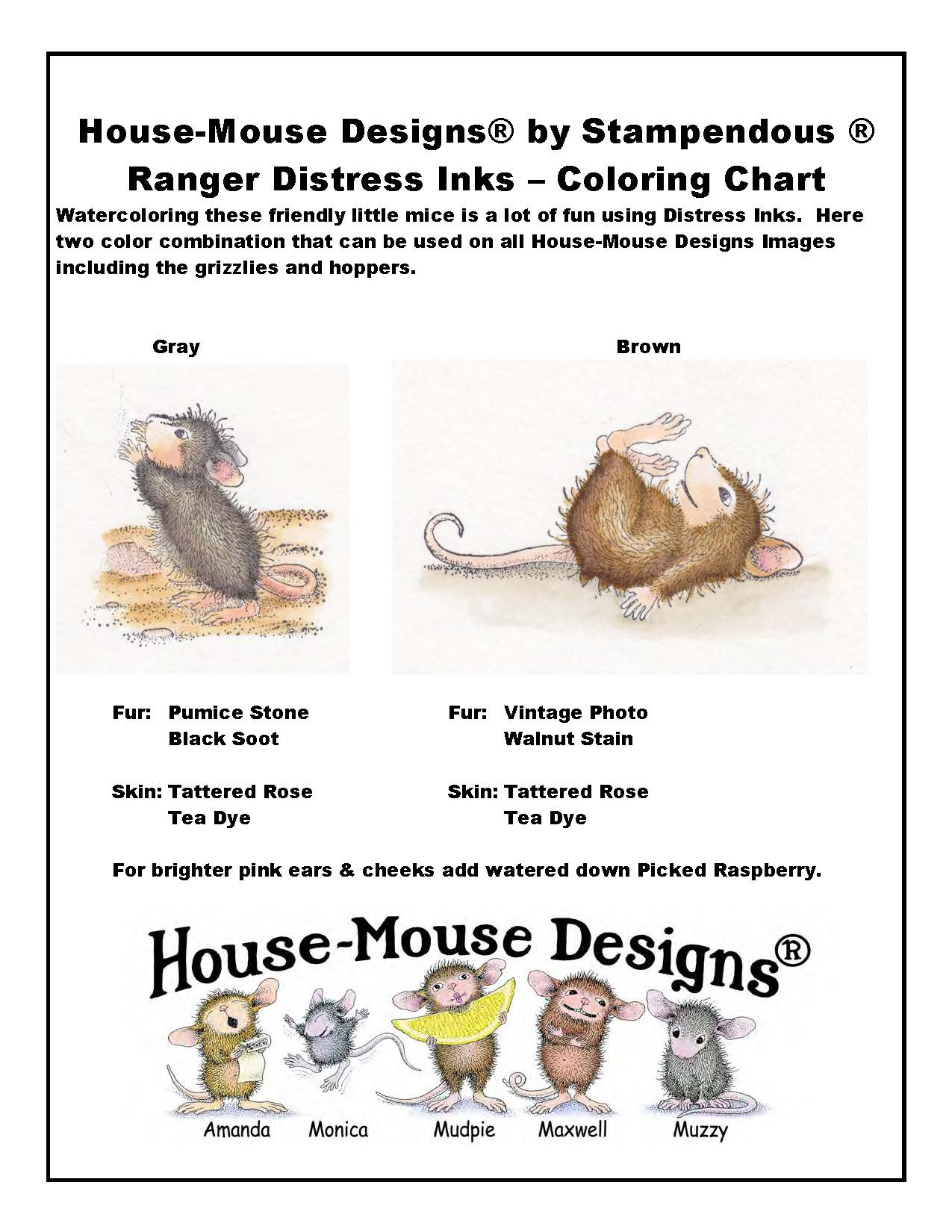 House mouse designs ranger distress markers colored by jennie lin black