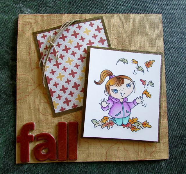 Leaf Girl Kiddo by Krissy Fossmeyer