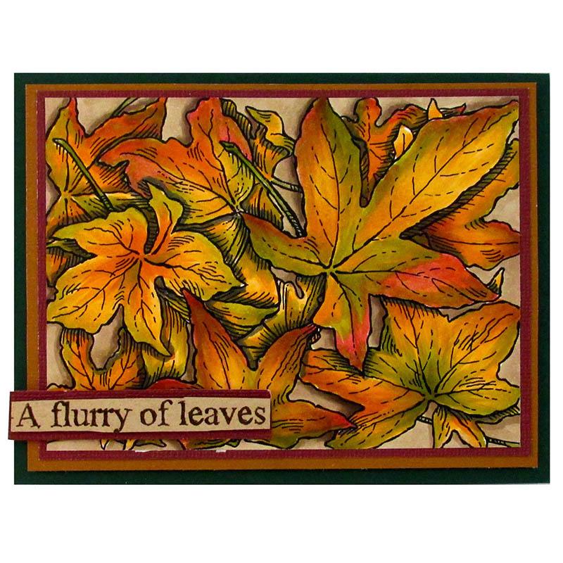 Leaf Background by Rhea Weigand