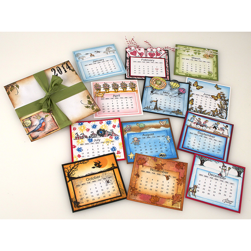 Handmade Calendar With Photos : Handmade holidays hop day