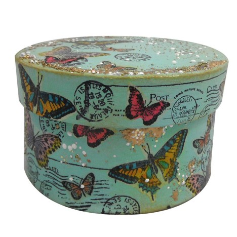 Paper Mache Butterfly Box by Kristine Reynolds