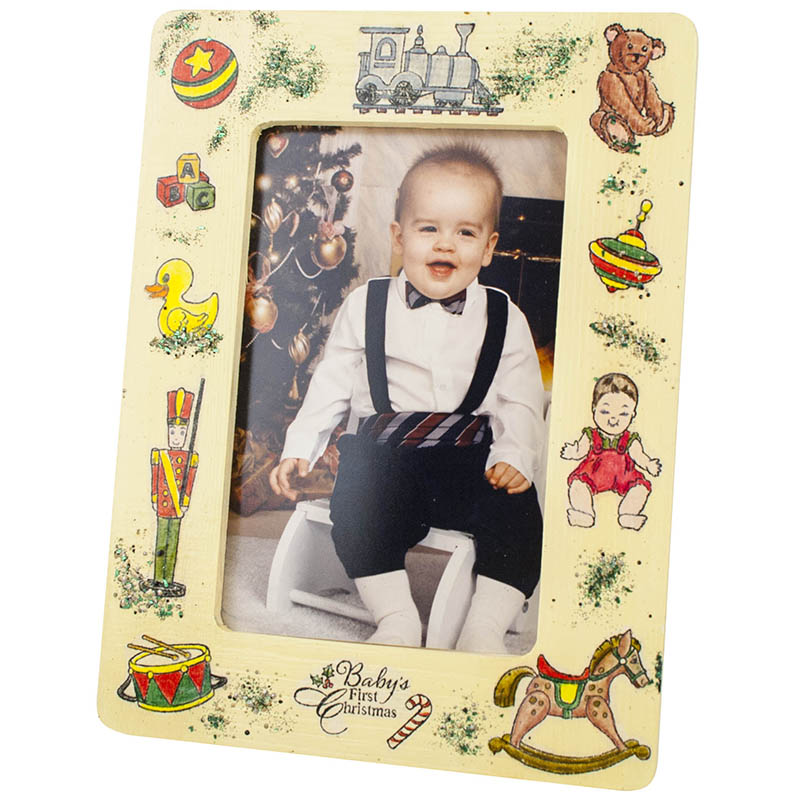 Baby's First Christmas Frame by Kristine Reynolds