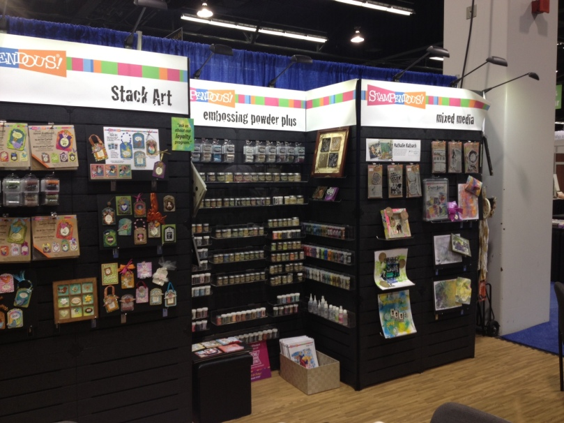 Towards the right end we were featuring our new Mixed Media products.