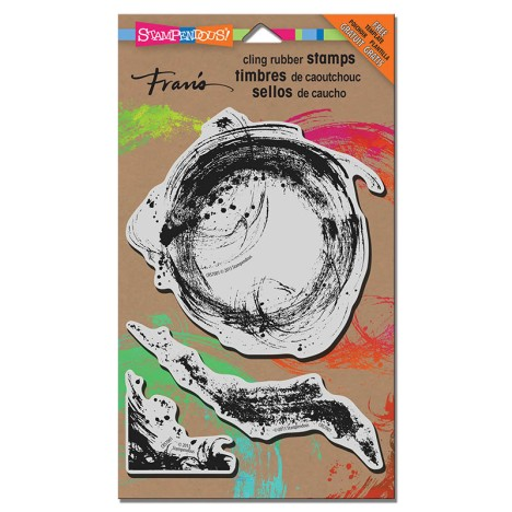 Brush Strokes Mixed Media Stamp Set