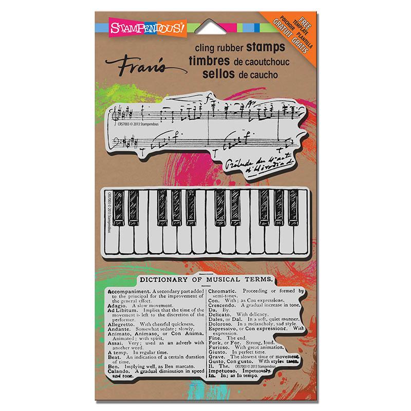 CRS7003 Cling Jumbo Musical Motif