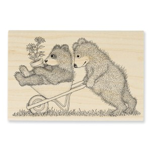 Gruffies® by House-Mouse Designs® - Wheel Bearrow Wood Mounted Stamp by Stampendous