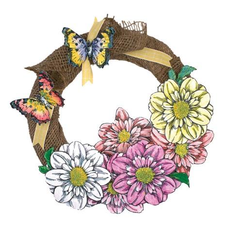Jumbo Moray Dahlia Wreath by Monika Thomas
