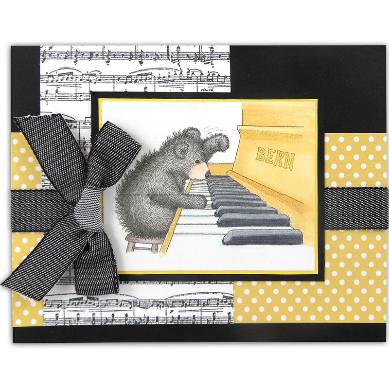 Piano Playing Bear by Kristine Reynolds