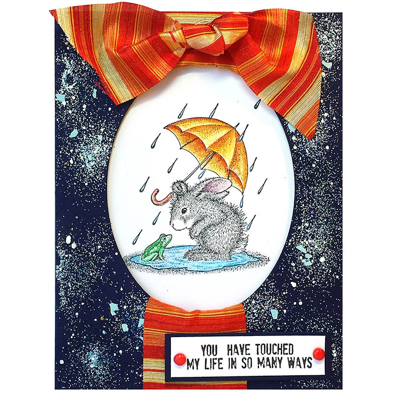 House-Mouse Designs® HappyHoppers Puddle Fun by Jamie Martin. Featuring Horizontal Stripe Ribbon by May Arts