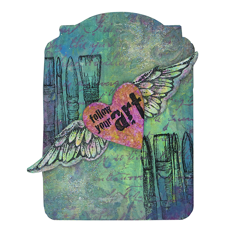 Follow Your Art - Angel Wings Stack Art by Debbie Cole