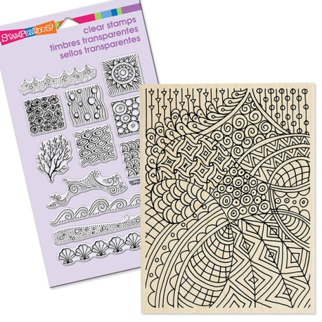 PenPattern backgrounds in Perfectly Clear Stamps, Wood Mounted or Cling Rubber