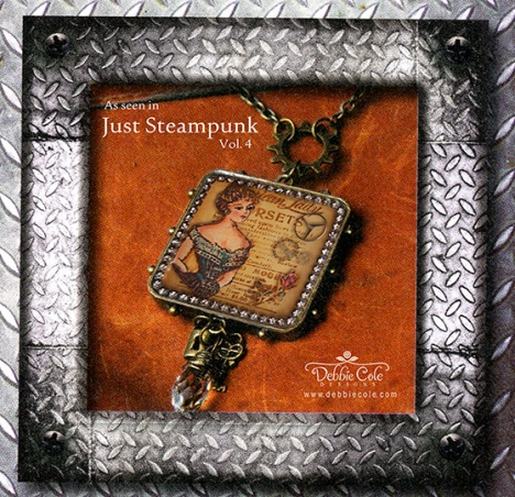 Steampunk Lady Necklace by Debbie Cole