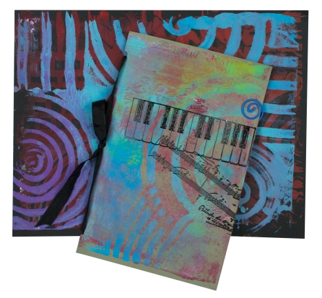An Art Journal Cover made with Creative Palette Cardstock