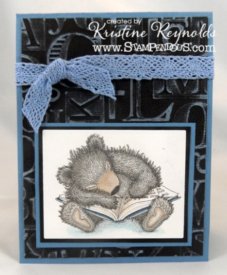 sleepy reader card by kristine reynolds