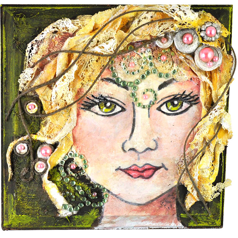 Blossom Beauty Plaque by Janelle Stollfus