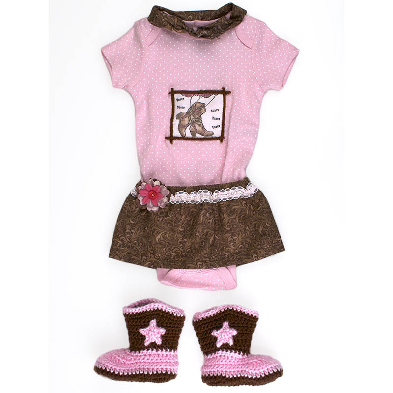 Cowgirl Boots Onsie by Terry Braddock