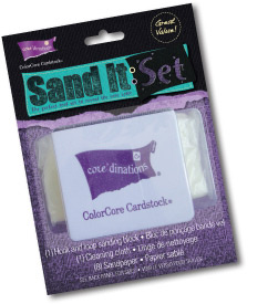 Core'dinations Sand It Set including Dust Buddy