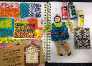 Mixed Media Doll by Susie Wolfe featuring Stampendous Stack Art and DecoArt Media Fluid Acrylics