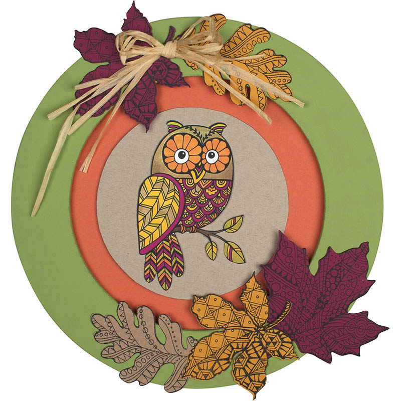 PenPattern Autumn Wreath by Monika Thomas