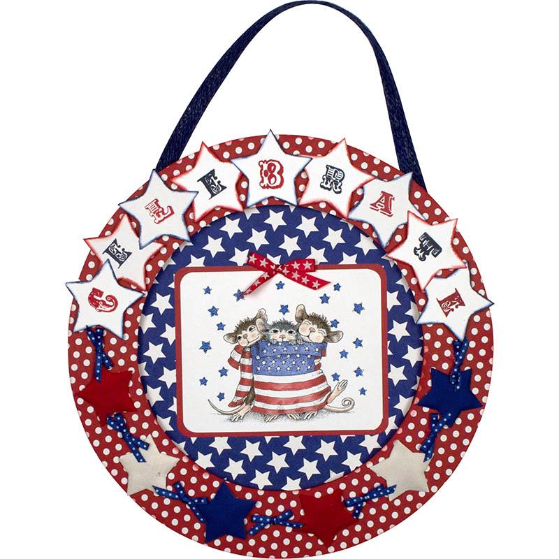 Celebrate USA Wreath by Monika Thomas