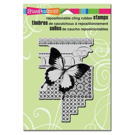 CRP224 Cling Butterfly Pattern