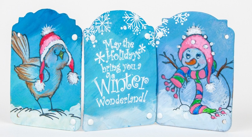 Winter Fun Stack Art by Fran Seiford