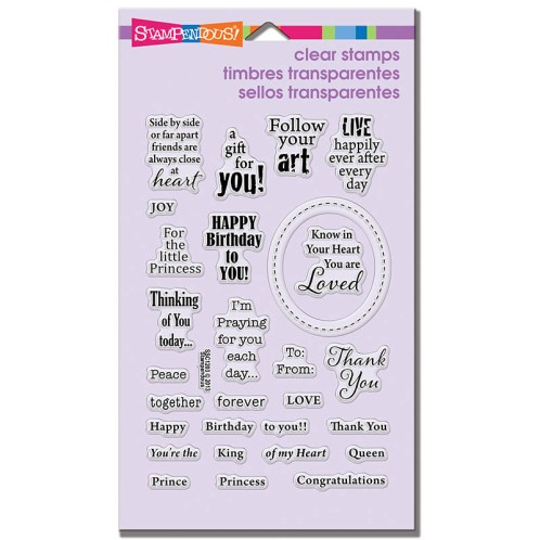 Royal Heart Quotes Perfectly Clear Stamps