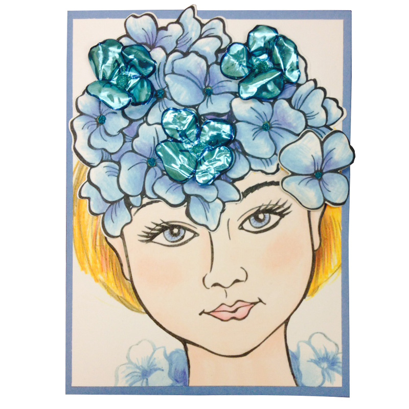 Hydrangea Blossom Beauty by Debi Hammons with A Little Dazzle added by Laura Weed