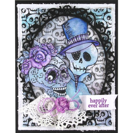 A Skeleton Wedding Card
