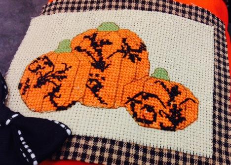cross stitch closeup