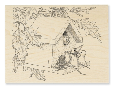Trick or Tweet Wood Mount Stamp